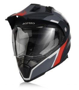 ACERBIS FLIP FS-606 OFF ROAD HELMET GREY-RED