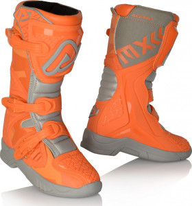 ACERBIS X-TEAM OFFROAD KID BOOTS ORANGE-GREY