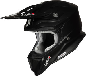 JUST1 CASCO OFFROAD J18 SOLID NERO MATTO