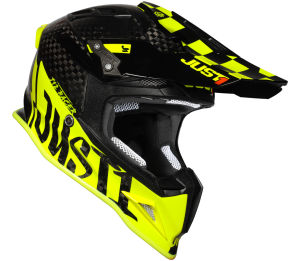 JUST1 CASCO OFFROAD J12 PRO RACER FLUO YELLOW CARBON GLOSS
