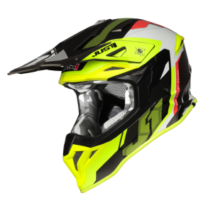 JUST1 J39 REACTOR FLUO YELLOW-RED-TITANIUM-MATT OFFROAD HELMET