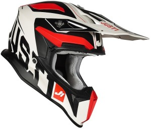 JUST1 J18 VIRTUAL FLUO RED-WHITE MATT HELMET