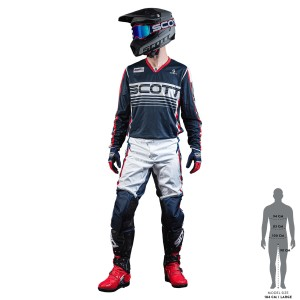 SCOTT 350 RACE BLUE-RED OFFROAD JERSEY+ PANT