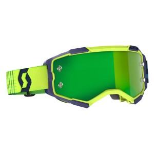 SCOTT BLUE-YELLOW GREEN CHROME WORKS FURY GOGGLE