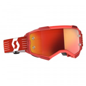 SCOTT MASCHERA FURY BRIGHT RED -ORANGE CHROME WORKS