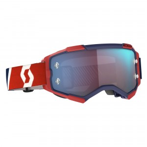 SCOTT RED-BLUE  BLUE CHROME WORKS FURY GOGGLE