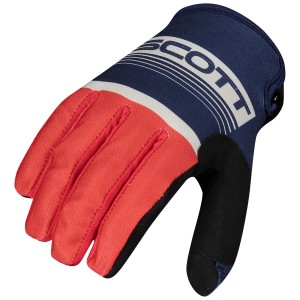 SCOTT 350 RACE BLUE-RED GLOVES