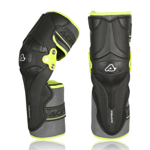 ACERBIS BLACK-YELLOW  X-STRONG LEVEL 2 KNEE GUARDS ONE SIZE
