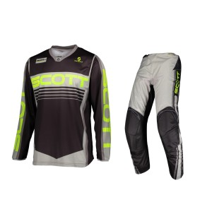 SCOTT 350 RACE grey-yellow OFFROAD JERSEY+ PANT