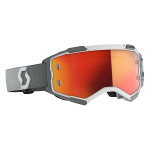 SCOTT WHITE-GREY ORANGE CHROME WORKS FURY GOGGLE